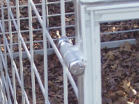 Hog Trap Bolt Close-up