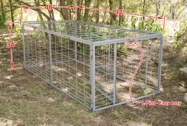 Swing Gate Hog Trap